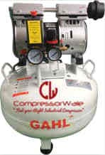 1 HP Dental Oil-Free Reciprocating Piston Type Air Compressor