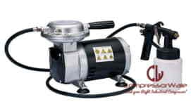 0.33 HP Mini Oil-Free Reciprocating Piston Type Air Compressor with 1 air house 1.8 meters and 1 spray gun