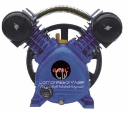 2 HP Cast Iron Block Single Stage Reciprocating Piston Bare Air Compressor Pump Head Set – Only Compressor Block