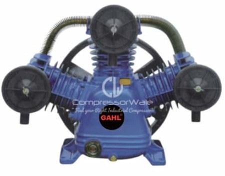 7.5 HP Cast Iron Block Two Stage Reciprocating Piston Bare Air Compressor Pump Head Set – Only Compressor Block