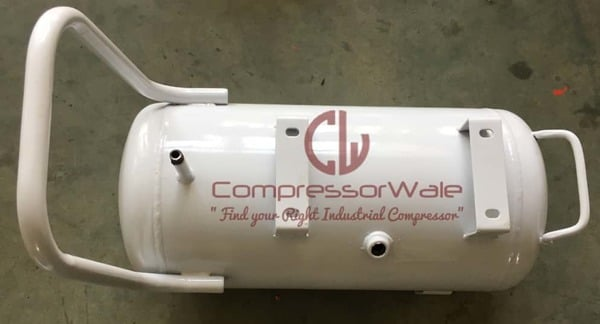 25 Liter Horizontal Air Receiver Tank to Store Compressed Air