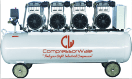 10 HP Oil-Free Reciprocating Piston Type Air Compressor