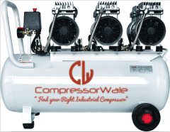 6 HP - Three Motor Oil-Free Reciprocating Piston Type Air Compressor