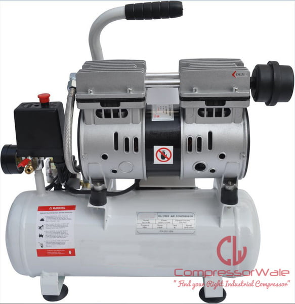 1 HP Small Oil-Free Reciprocating Piston Type Air Compressors