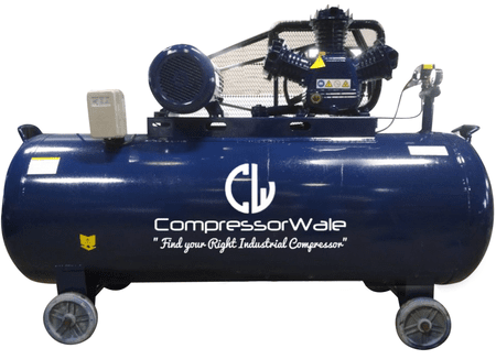 20 HP Cast Iron Block Single Stage Reciprocating Piston Air Compressor