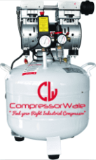 1.5 HP Dental Oil-Free Reciprocating Piston Type Air Compressor with Air Filter Regulator